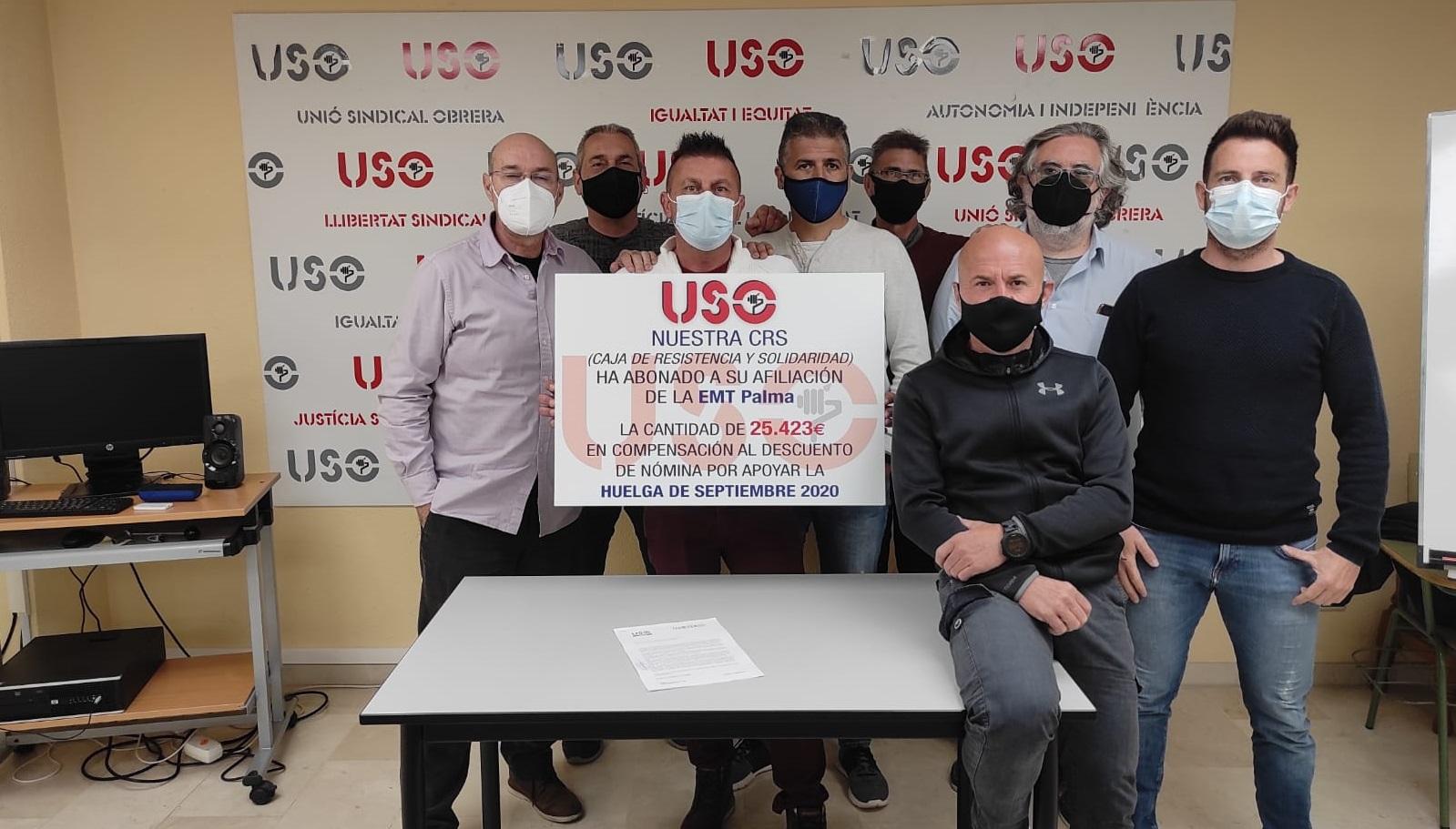 Nuestra Caja de Resistencia Social, al rescate de la sección sindical de la EMT-Palma