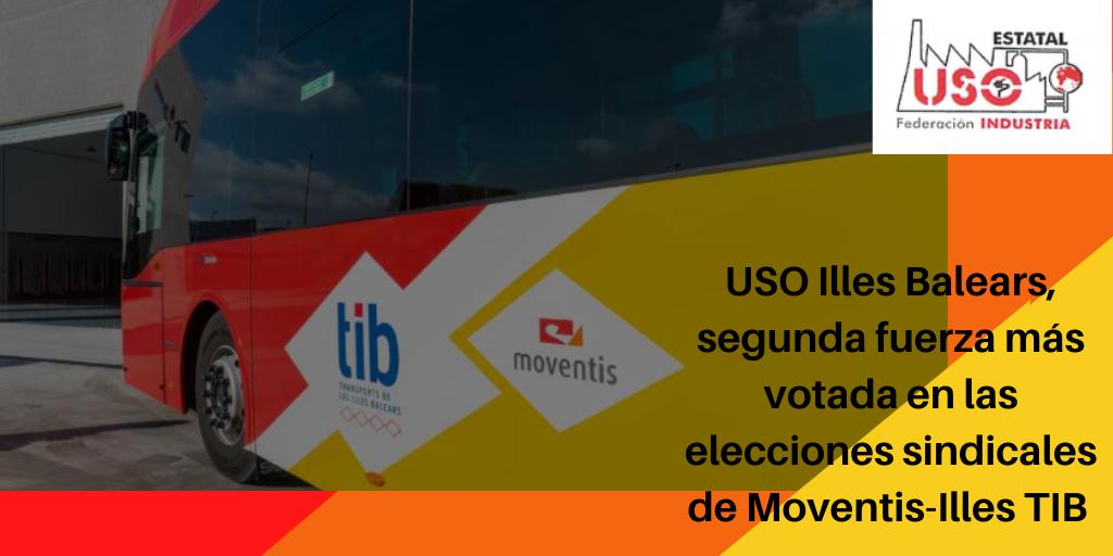 La FI-USO Illes Balears, segunda fuerza más votada en las elecciones sindicales de MOVENTIS